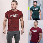 Men Gym T shirt Silm Fit Cotton Tee Short Sleeve Bodybuilding Fitness Muscle K