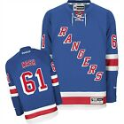 New Mens REEBOK NHL PREMIER JERSEY Rick Nash Blue Home New York Rangers