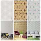 COLOROLL VIBRATION GEOMETRIC WALLPAPER MINK DUCK EGG BLACK GOLD FEATURE WALL NEW