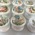 PETER RABBIT BEATRIX POTTER DECOUPAGE KNOBS HANDLES FOR CUPBOARDS/ DRAWERS