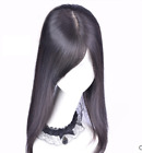 """100% human hair 3 layers traceless SILKTOP topper fall hairpiece half-wig 8-20"""""""