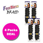 *4-PACK/6-PACK* FREETRESS SYNTHETIC CROCHET BULK BRAID HAIR - GOGO CURL 26