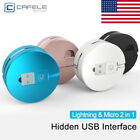 Retractable 2 in1 2.1A Micro USB Data Sync Fast Charger Cable Lead for iPhone 8