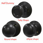 Black Dummy Door Handles Half Set Knob Different Shapes with Screws DL576/3/6