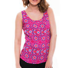 NEW PER UNA VEST TOP TUNIC PINK MULTI FLORAL ABSTRACT SUMMER BEACH HOLIDAY