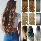 Mega Thick 120g-200g One Piece Weft Clip In Hair Extensions as Natural Human F0S