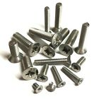 M4 / 4mm A2 Stainless Steel Pozi Countersunk Machine Screws Posi DIN965Z Csk