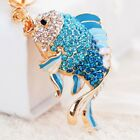 Fish carp key chain rhinestone crystal fashion keyring purse charm bag pendant