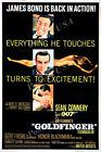 Posters USA - 007 Goldfinger James Bond Movie Poster Glossy Finish - MOV187 $16.95 USD on eBay
