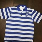 PHI BETA SIGMA Fraternity Short Sleeve Polo Shirt Blue White stripe Polo shirt