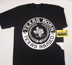 Texas Born And Raised L-3XL Black Screen Printed Shirt One Deep Piranha Records