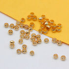 2mm 2.5mm 3mm gold/silver/bnz copper crimps stopper Round beads End cap findings