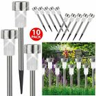 ASAB 10x Solar Powered Post Lights LED Stainless Steel Outdoor Lighting Garden