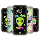 HEAD CASE DESIGNS ALIEN EMOJI HARD BACK CASE FOR HTC PHONES 1