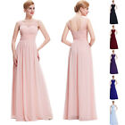 Plus Celebrity Style Evening Party V-Back Bridesmaid Wedding Cocktail Long Dress