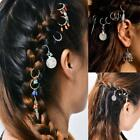 7/8Pcs Colorful Pendant Charms Rings Set Hair Clip Accessories for Pierced Braid