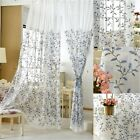 French Romatic Crochet Lace Cutwork Embroidery Net Curtain Tap Panel Damask Soft