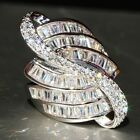 7.6ct Shiny White Topaz 925 Silver Ring Jewelry Wedding Engagement  Size 6-10
