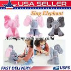 Animated Singing Elephant Stuffed Baby Toy Peek-a-Boo Plush Animal Play Music QS