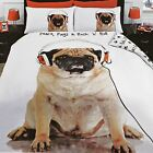 ROCK N ROLL PUG DUVET COVER SET REVERSIBLE BEDDING KIDS ADULTS - SINGLE & DOUBLE