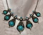 TURQUOISE STATEMENT NECKLACE HUGE SELECTION TIBET SILVER IDEAL LADIES GIFT IDEA