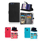 Leather Wallet Case Cover  For Various Huawei Model Flip Stand Card Slot