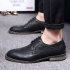 Mens Fashion Casual Comfort Soft All Match Carving Lace Rubber Outsole Shoes