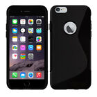 Soft TPU Gel Skin S-Line Wave Rubber Silicone Case Cover for Apple iPhone 6 6s