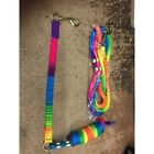 Rainbow bungee lead rope 2 in 1 ( horse pony )