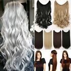 Remy Secret Wire in Hair Extensions Hairpiece 12color Thick Human Synthetic T4