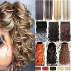 100% Natural Women 3/4 Full Head Clip In Hair Extension Real Thick as human T67