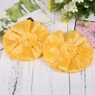 2Pcs/Pair Curtain Bottons Belts Sun Flowers Banding Curtain Drape Panel