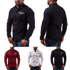 Stylish Men Casual Long Sleeve Buttons Luxury Slim Fit Tops Shirt T-Shirts SALE