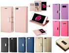 For Apple LG Samsung Phones PU Leather Double Fold Extra Card Slot Wallet Case