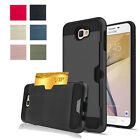 New Brushed Shockproof Card Slot Armor Cover Case For Samsung Galaxy J5 J7 Prime