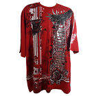 SOUTHPOLE MEN'S BIG AND TALL RED GRAPHIC T-SHIRT STYLE 17327-1033 (3XB - 6XB)