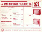 Sams Photofact Folder Set 979 - TV Radio Phonograph