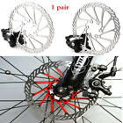2Pcs Mechanical Bike Disc Brake Set Front & Rear Caliper Rotor Bicycle MTB Parts