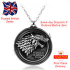 Game of Thrones Jewellery Stark Direwolf Wolf Antique Silver Pendant Necklace