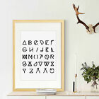 Modern Canvas Print Poster Symbol Motto Quote Painting Kids Room Wall Decor A4