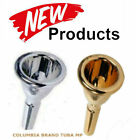 TUBA MOUTH PIECE GOLD OR SILVER COLUMBIA BRAND 18 SP GP