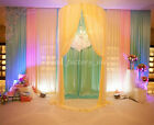 1M Backdrop Pearly-lustre Silk Curtain Chair Cover Wedding Party Stage Decor