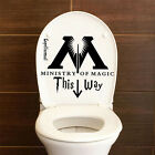Harry Potter Ministry Of Magic This Way Bathroom Toilet Seat Vinyl Wall Sticker