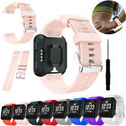 Pink Soft Silicone Watch Band Wristband Strap Bracelet For Garmin Forerunner 35