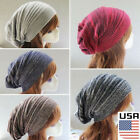 Knit Beanie Men Women Winter Oversize Baggy Hat Ski Slouch C