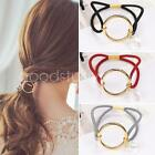 Fashion Women Round alloy Ctystal hair circle rope rubber band Ponytail Holder