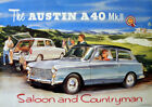 Austin A30 Two Door Saloon Vintage Advertising Picture Print Poster A1