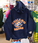 CHICAGO BEARS Zipper HOODIE, Dark Blue - LARGE Sizes XL, 2XL, 3XL, 4XL, 5XL
