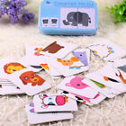 Baby Learn English Match Puzzle Cognitive Card Infant Education Toy For Children