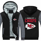 New Kansas City Chiefs Hoodie Winter Fleece Mens Thicken Sweatshirts Coat on eBay